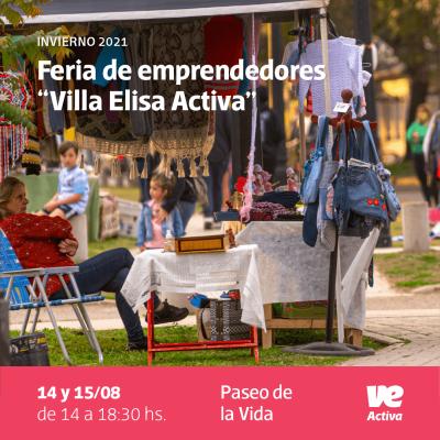 Este fin de semana largo habrá Feria Villa Elisa Activa