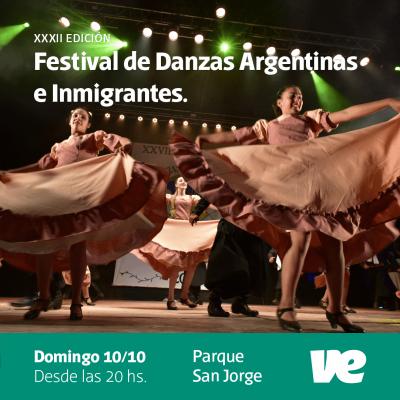 Este domingo Villa Elisa vivirá el Festival de Danzas Argentinas e Inmigrantes en el Parque San Jorge