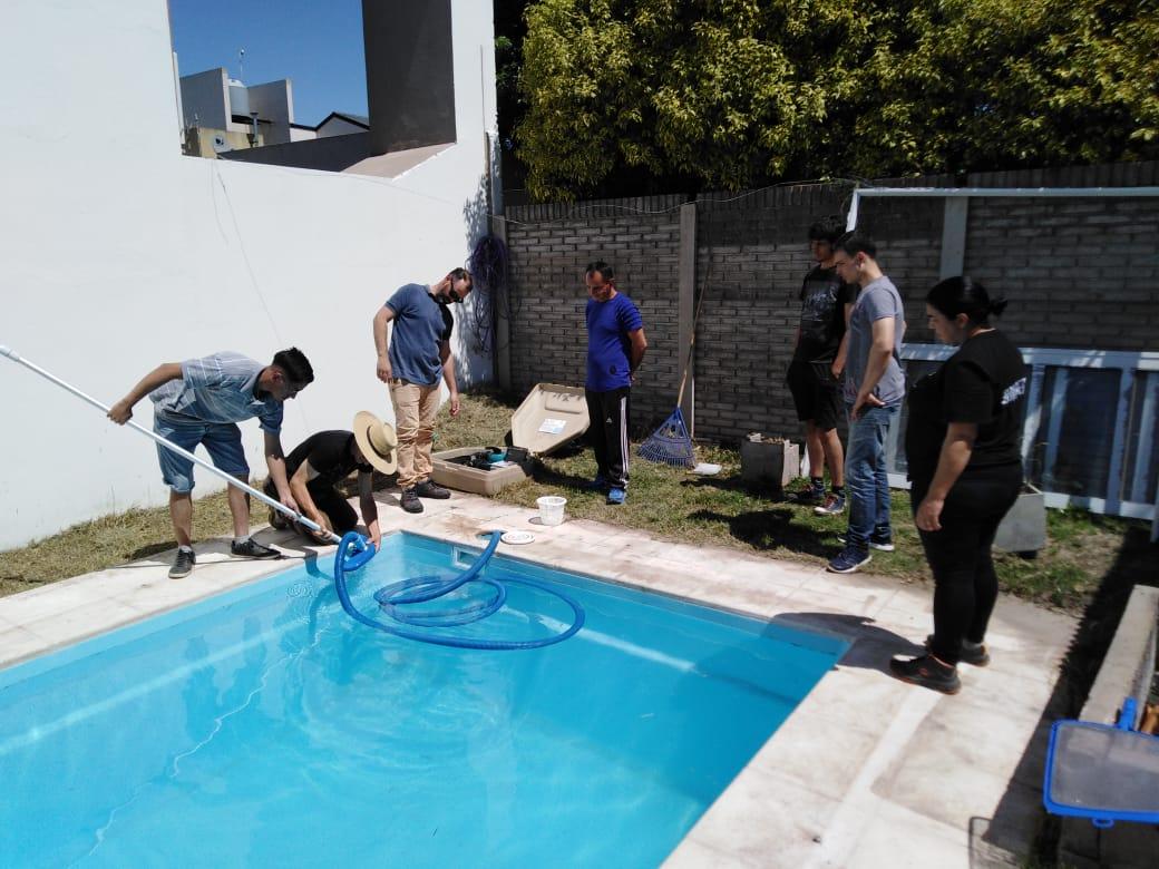 Se concretó la capacitación sobre mantenimiento y recuperación de piscinas
