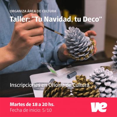 """Este martes comienza el Taller """"Tu Navidad, tu Deco"""" en Villa Elisa"""