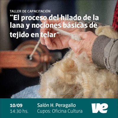 Permanece abierta la convocatoria para la capacitación sobre hilado de lana y tejido al telar